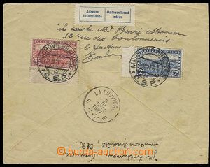 29814 - 1927 Reg letter returned from Belgium with label about/by in