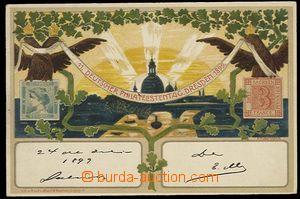 29831 - 1899 FILATELIE - litografická barevná pohlednice, 11. Deut