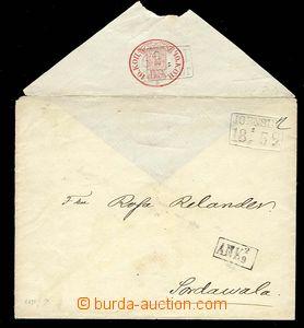 29836 - 1859 celinová obálka 10K červená, Mi.U4, rámečkové ra