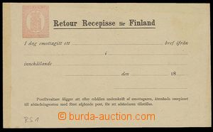 29859 - 1871 reply receipt with stamp. 10P carmine, Mi.RS1, good con