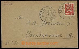 29864 - 1935 tiskopis do USA(!) vyfr. výplatní zn. 5S, Mi.77. DR Tar