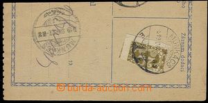 29867 - 1919 cut C.O.D. order franked with. halving postage-due stmp