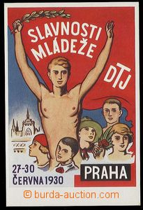 29880 - 1930 slavnosti mládeže DTJ Praha, barevná kreslená pohle