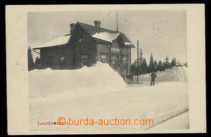 29889 - 1910 Lautiosaari - nádražní budova a kolejiště ve sněh