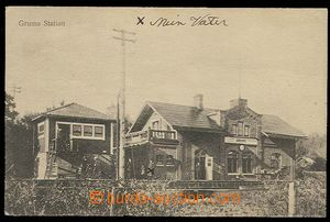 29894 - 1920 Grums - railway-station  building with tracks, Us with