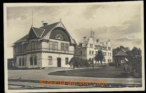 29895 - 1928 Karlskoga - railway-station  building with tracks, phot