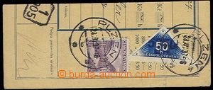 29897 - 1937 Pof.DR1A used on/for cut tog. with stamp. Pof.310, CDS