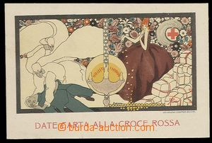 29919 - 1915 BOMDZZ signovaná pohlednice italského ČK, Date Carta
