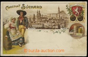 29926 - 1920 Chocolat Suchard - color advertising with motive of Pra