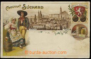 29926 - 1920 Chocolat Suchard - barevná reklamní s motivem Prahy,