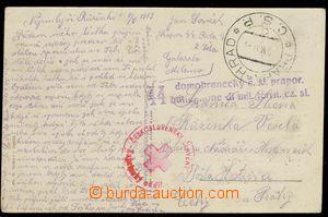 29959 - 1919 ITALY  postcard sent by FP, CDS Prague - Castle/ ?4.VI.