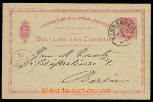29968 - 1884 PC UPU 10Ö, Mi.P20, CDS Kjobenhavn 5/5, addressed to t