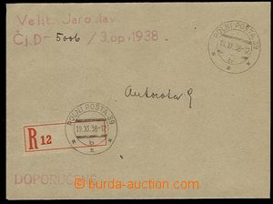 29984 - 1938 Reg letter with FP-postmark 39/ 19.XI.38, military unit
