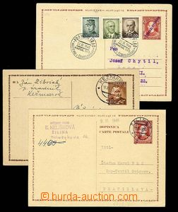 29995 - 1945-46 3 pcs of Slovak provisional PC, 2x CDV6/ VI with blu