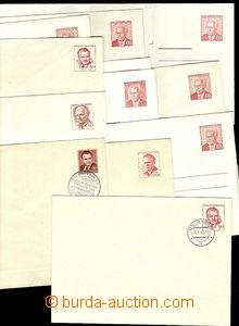 30024 - 1950-85 comp. 11 pcs of postal stationery cover, i.a. COB1 w
