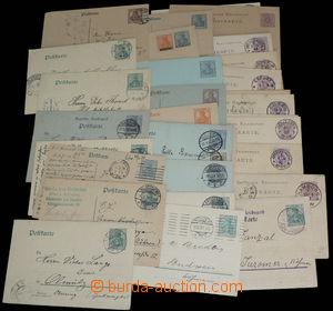 30025 - 1883-1920 GERMANY  sestava 34ks dopisnic, prošlé i čisté