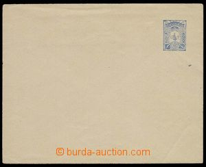 30043 - 1908 postal stationery cover with printed stmp 1Pia blue wit