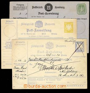 30049 - 1885 BAVARIA 2 pcs of post. dispatch-notes, Mi.A37II filed,