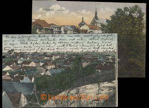 30055 - 1910 JAROMĚŘ - 2ks jednozáběrových barevných pohlednic, proš