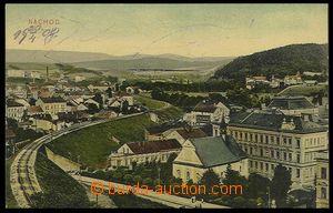30057 - 1908 Náchod - celkový barevný pohled od železniční trati, la