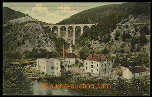 30059 - 1908 JÍLOVÉ U PRAHY - Žampach, kamený most s továrnou, barev