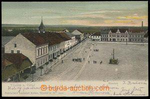 30060 - 1905 TÝNIŠTĚ NAD ORLICÍ - náměstí, barevný, DA, prošlé, bez