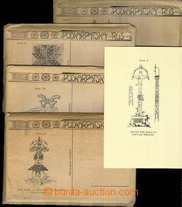 30197 - 1920? sestava  5ks komplerních sérií pohlednic v originálníc