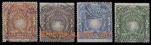 30209 - 1890 Mi.18-21, marginal pieces, cat. 285€