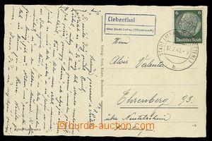 30270 - 1941 LIEBENTHAL / über Stadt Liebau, modré raz. poštovny