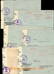 30276 - 1947 US ZONE  6 pcs of letters from Hamburg to Prague, frank