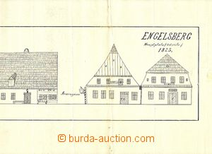 30291 - 1825 Engelsber - drawing buildings on/for Main square with b