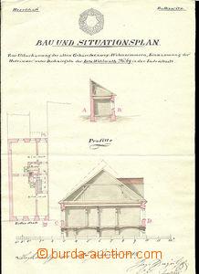 30297 - 1844 Boskovice  construction and situation plan house (post
