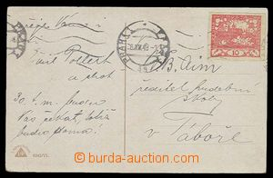 30298 - 1918 postcard with 10h red with MC Prague 1/ 28.XII.18 (Satu