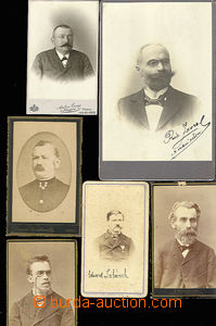 30300 - 1910? 9 pcs of photos Moravian vrchních postmasters from per