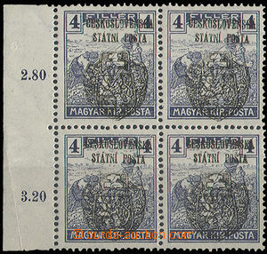 30339 - 1918 Pof.RV121 as blk-of-4, skalický overprint, mint never