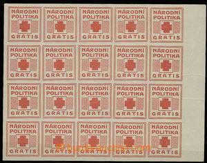 30342 - 1918 Provizorium Pof.NN17/II., Národní politika Gratis, kr