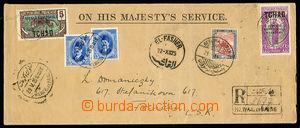 30401 - 1926 služební obálka zaslaná jako R do ČSR, vyfr. mj. z