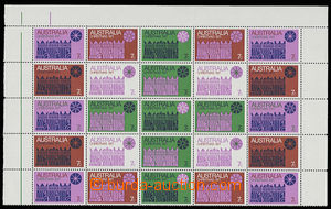30418 - 1971 Mi.479-85, 25-stamps. joined printing block, c.v.. 325M
