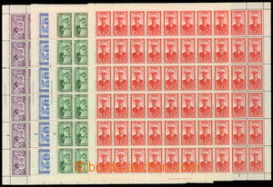 30479 - 1947 Královská návštěva kompletní řada v 60ks aršíc