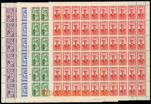 30479 - 1947 Royal visit complete set in/at 60 pcs of sheets, Mi.118