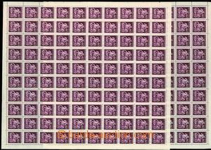 30493 - 1943 Postilion, Pof.102,  2x 100-známkový arch z toho 1x s