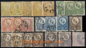 30499 - 1871 issue I  selection of 22 pcs of stamp. 2 - 25 Kreuzer,