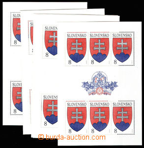 30537 - 1993 PB large state coat of arms - 10 pcs of, ZSF.PL1, c.v..