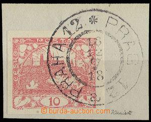 30554 - 1918 1.den použití(!), výstřižek se zn. 10h červená a