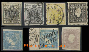 30566 - 1850-58 comp. of stamps the first issue Mi.1 Ib HP,2 Ia, 2 I