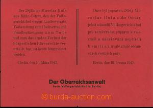 30573 - 1943 německé vyhlášky z období heydrichiády, oznámen�