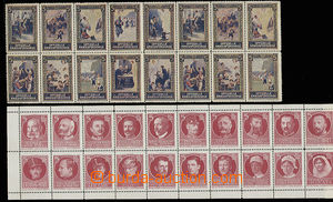 30575 - 1915 Austria  20 pcs of joined printing labels with members