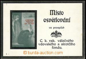 30576 - 1917 propagační karta Místo osvětlování ve prospěch v
