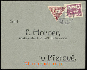 30583 - 1919 express tiskopis(!), response envelope with Hradčany 3