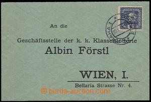 30586 - 1918 novinová zn. 6h Merkur modrá, Mi.214, použitá s přetisk